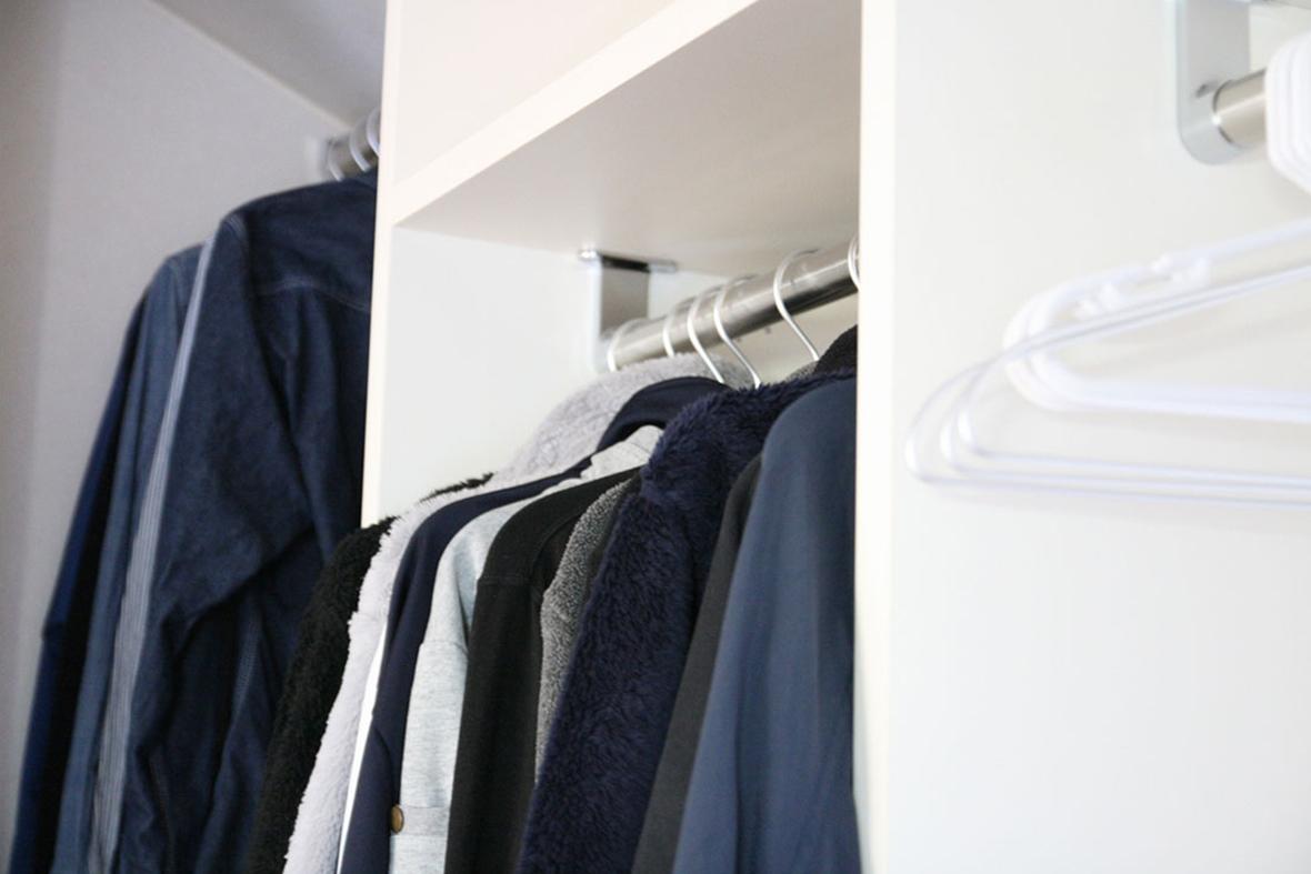 衣類から小物まで、何でも収まるウォークインクローゼット