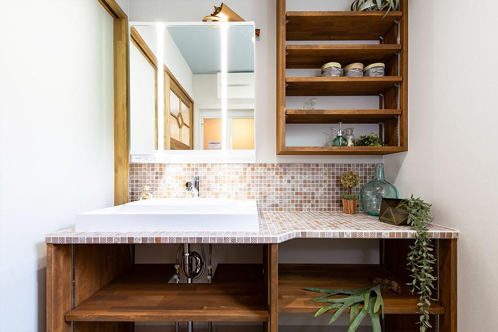オリジナルの洗面台や装飾が「かわいい!」