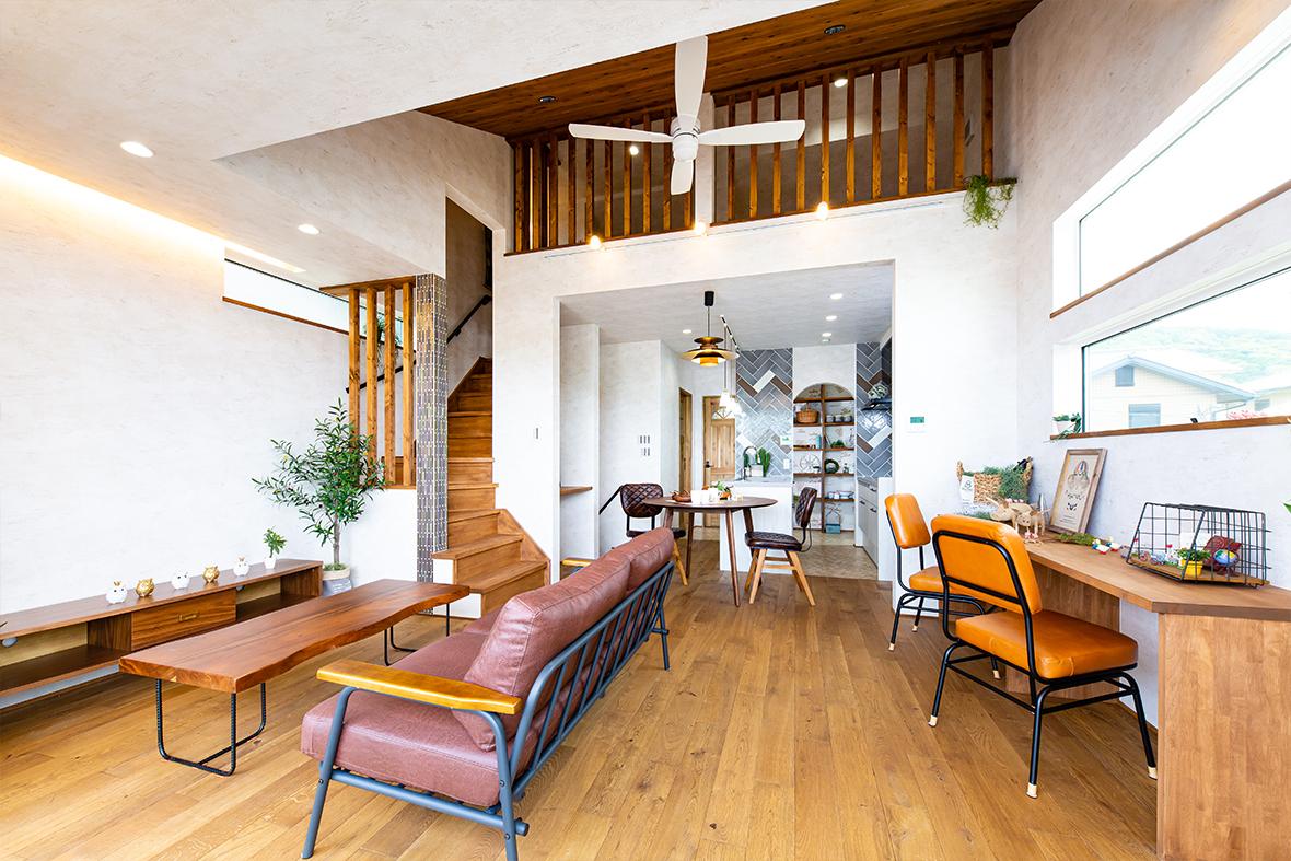 カフェ風のリラックス空間を生み出す家!