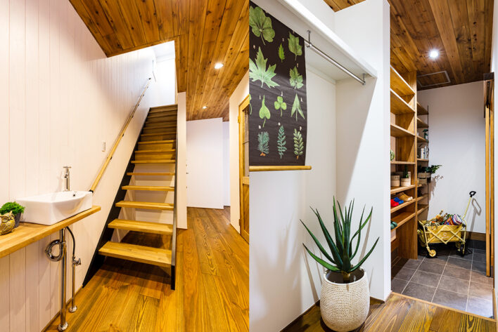 玄関土間スペースは大容量の収納が可能です!