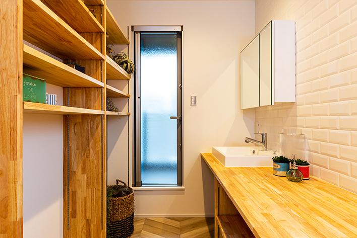2階に洗面とお風呂がある楽々動線